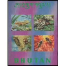 1969 Bhutan Mi.269-272/B21b Insects 25,00 €