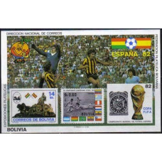 1981 Bolivia Michel B117b 1982 World championship on football of Spanien 75.00 €