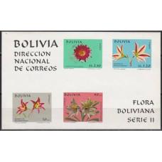 1971 Bolivia Michel 817-18,21,23/B31b Flora 17.00 €