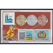 1980 Bolivia B102 1980 Olympic Lake Placid 80,00 €