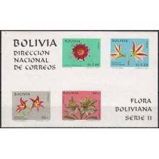 1971 Bolivia Mi.817-18,21,23/B31b Flora 17.00