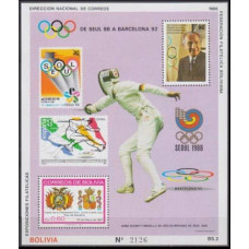 1988 Bolivia Mi.B176 1992 Olympic in Barcelona 25,00 €
