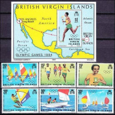 1984 British Virgin Islands Mi.473-478+479/B21 1984 Olympiad Los Angeles 7,70 €