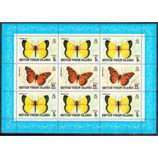 1978 British Virgin Islands Mi.344-347KL Butterflies 7,50 €