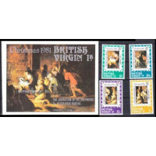 1981 British Virgin Islands Mi.419-422+423/B16 Piter Paul Rubens 7,80 €