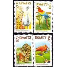 1973 Brazil Mi.1415-1418 Brazilian flora and fauna 34.00 €