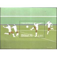 1974 Brazil Michel 1440/B34 1974 World championship on football of Munchen 7.00 €