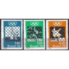 1976 Brazil Michel 1529-1531 1976 Olympiad Montreal 2.00 я€