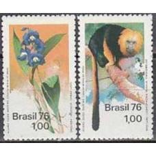 1976 Brazil Mi.1534-1535 Fauna and flora 2,40 €
