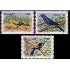 1978 Brazil Mi.1651-1653 Birds 6,50 €