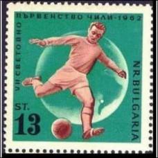 1962 Bulgaria Michel 1312 1962 Futbool Chile 2.00 €
