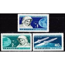 1962 Bulgaria Mi.1355-1357 Vostok 3 / 4 5,00