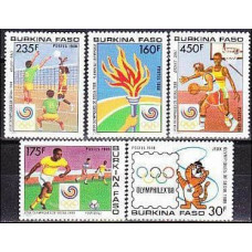 1988 Burkina Faso Michel 1166-1170 1988 Olympiad Seoul 12.00 €