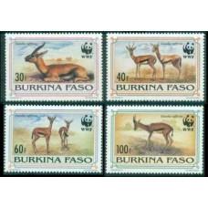 1993 Burkina Faso Mi.1298-1301 WWF 12,00