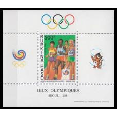 1988 Burkina Faso Mi.1171/B130 1988 Olympics in Seoul 6,50 €