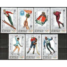 1968 Burundi Michel 386-392 1968 Olympiad Grenoble 6.50 €