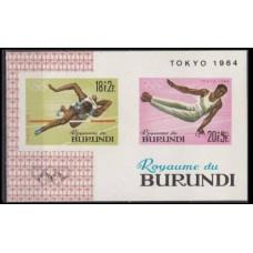 1964 Burundi Mi.135-139/B5b 1964 Olympics Tokyo 6,00 €