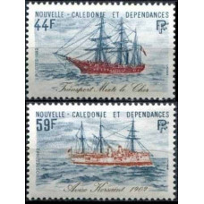 1982 New Caledonia Mi.693-694 Ships with sails 7,00 €