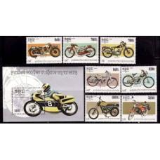 1985 Cambodge(Kampuchea) Mi.640-646+647/B143 Motorcycles 15,00 €