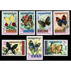 1983 Cambodge(Kampuchea) Mi.462-468 Butterflies 10,00