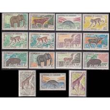 1962 Cameroun Mi.355-369 Fauna 20,00