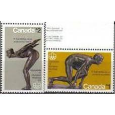 1975 Canada Michel 585-586 1976 Olympiad Montreal 8.00 €