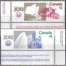 1976 Canada Michel 624-625 1976 Olympiad Montreal 10.00 €