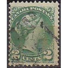 1870 Canada Michel 27A used Victoria 1.70 €