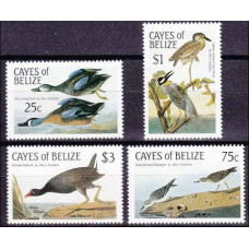 1985 Cayes of Belize Mi.22-25 Audubon 7,50 €