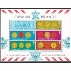 1976 Cayman Islands Michel 368-372/B10 Coins 7.50 €
