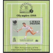 1988 Cayman Islands Mi.611/B17 1988 Olympics in Seoul 5,00 €
