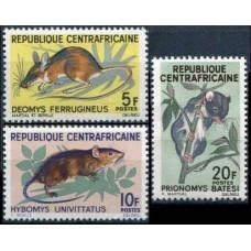 1966 Centralafrica Mi.113-115 Fauna 4,60 €