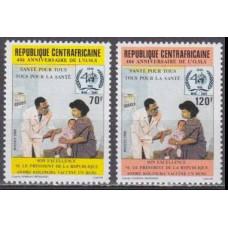 1988 Centralafrica Mi.1320-1321 MEDICINE 1,70