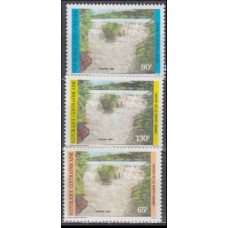 1986 Centralafrica Mi.1139-1141 Landscape 4,00