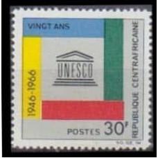 1966 Centralafrica Mi.122 UNESCO 0,80