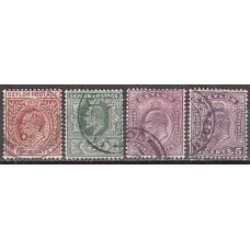 1903 Ceylon Michel 131-134 used Edward VII 8.20 €