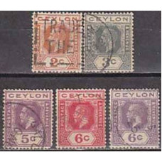 1911 Ceylon Michel 166-169 I-II used George V 5.90 €
