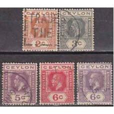 1911 Ceylon Michel 166-169 I-II used George V 5.90 €