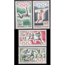 1964 Chad Mi.120-123 1964 Olympics Tokyo 12,00