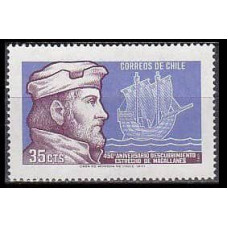 1971 Chile Mi.758 Ships with sails 0,40 €