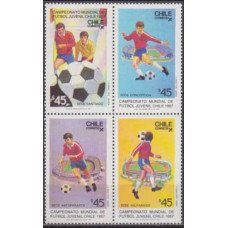 1987 Chile Mi.1179-1182VB Football 5,00 €