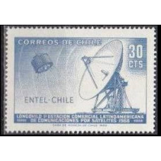 1969 Chile Mi.702 Satellite / Satellite Dish 0,40 €