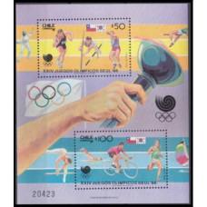 1988 Chile Mi.1220-1221/B7 1988 Olympics in Seoul 5,00 €