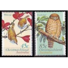 1996 Christmas Island Mi.421-422 Land birds 3,00 €