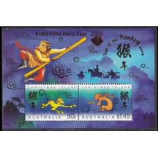 2004 Christmas Island Mi.517-518/B18 I Zodiac 45,00 €