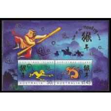 2004 Christmas Island Mi.517-518/B18 Zodiac 3,50 €
