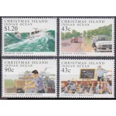 1991 Christmas Island Mi.329-332 Transport 10,00 €