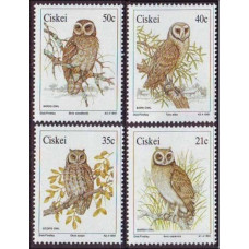 1991 Ciskei Mi.183-186 Owls 9,50