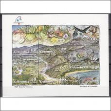 1988 Colombia Mi.1753-1759/B4 Birds / Philexfrance '89 15,00 €