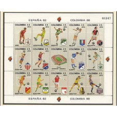 1982 Colombia Michel 1562-1576KL 1982 World championship on football of Spanien 12.00 €